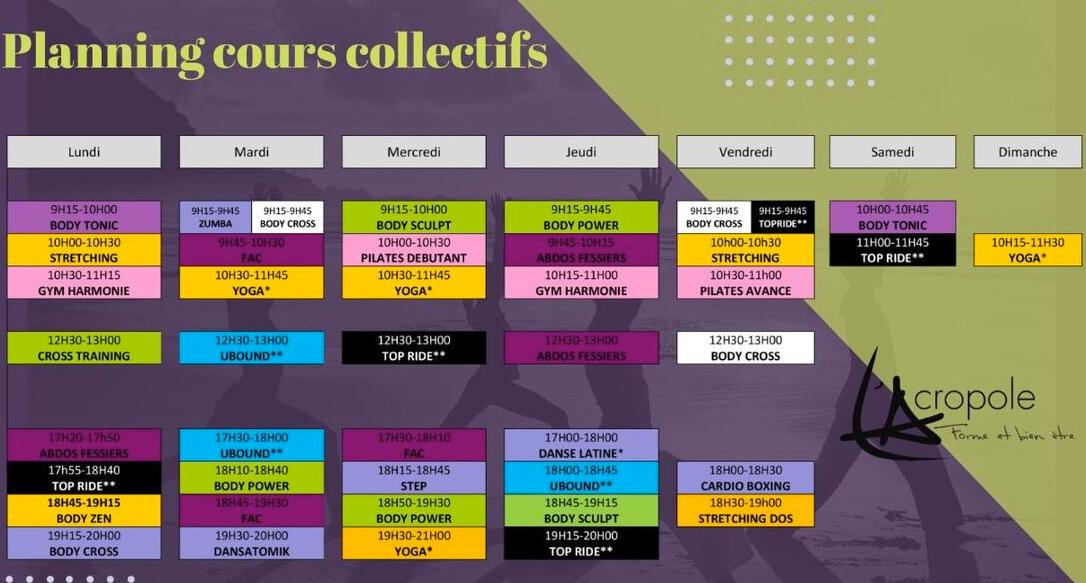 Acropole Salle De Sport Laval Calendar 67
